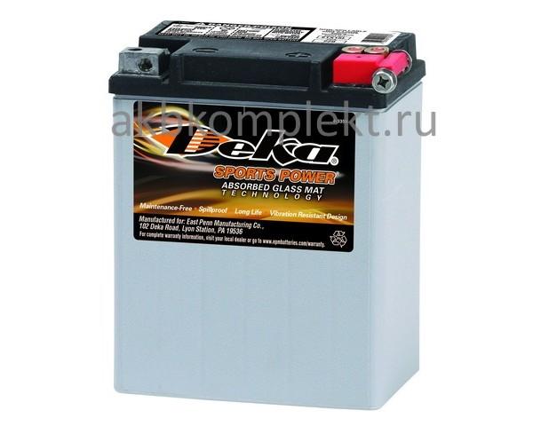 Мото аккумулятор Deka ETX15L (AGM) (YB14L-A1, YB14L-A2, YB14L-B2)