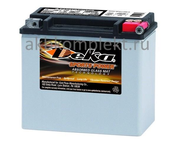 Мото аккумулятор Deka ETX16L (AGM) (YB16L-B, Y60-N24AL-B, YB16CL-B)