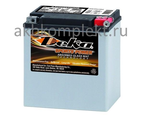 Мото аккумулятор Deka ETX30L (AGM) (YTX30L,YB30LB, 66010-97A, 66010-97C, 4011224)