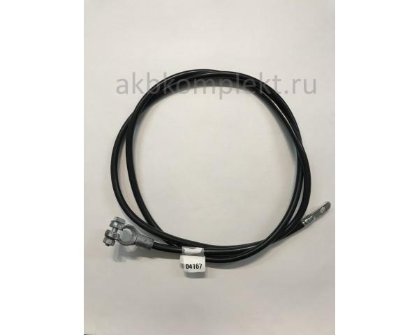 Провод с клеммой черный 4G Deka 04167