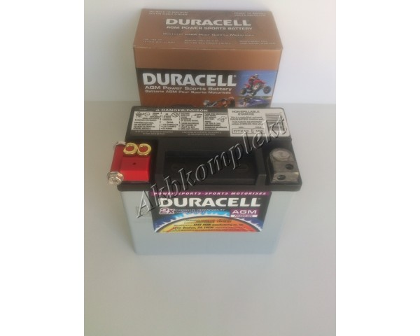 Мото аккумулятор Duracell DTX12 (AGM)