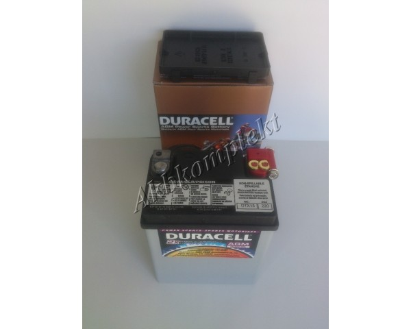 Мото аккумулятор Duracell DTX15 (AGM)