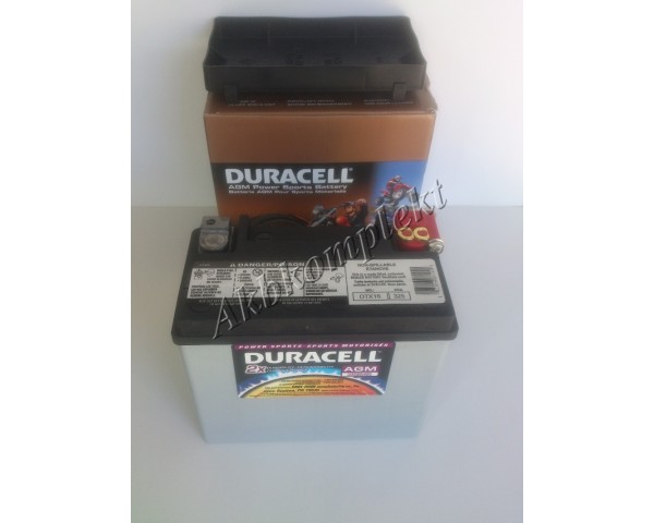 Мото аккумулятор Duracell DTX16 (AGM)