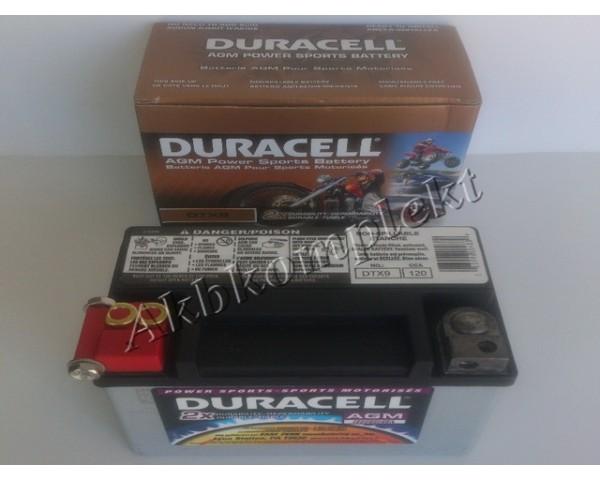 Мото аккумулятор Duracell DTX9 (AGM)