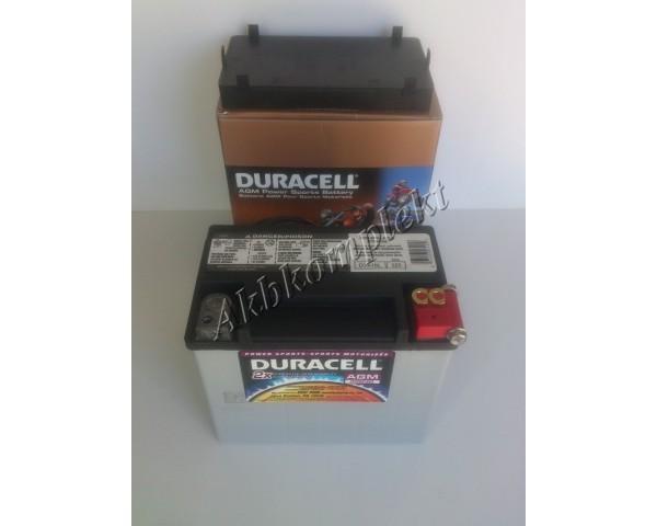 Мото аккумулятор Duracell DTX16L (AGM)