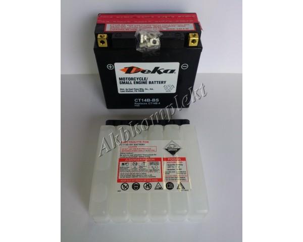 Мото аккумулятор Deka CT14B-BS (AGM) (YT14B-BS)