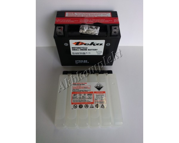 Мото аккумулятор Deka CTX20-BS (AGM) (YTX20-BS)