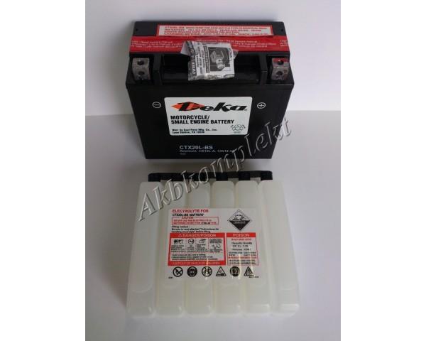 Мото аккумулятор Deka CTX20L-BS (AGM) (YTX20L-BS)