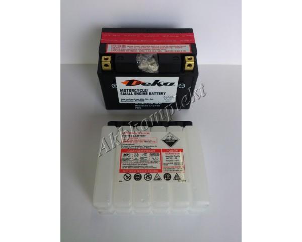 Мото аккумулятор Deka CTZ14S-BS (AGM) (YTZ14S, YTZ14S-BS)