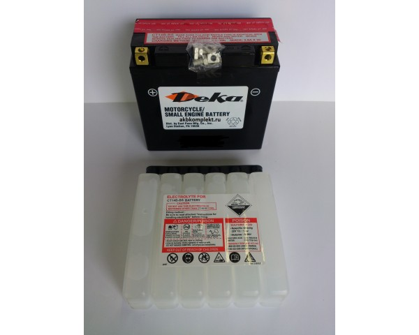 Мото аккумулятор Deka CTX14-BS (AGM) (YTX14-BS)